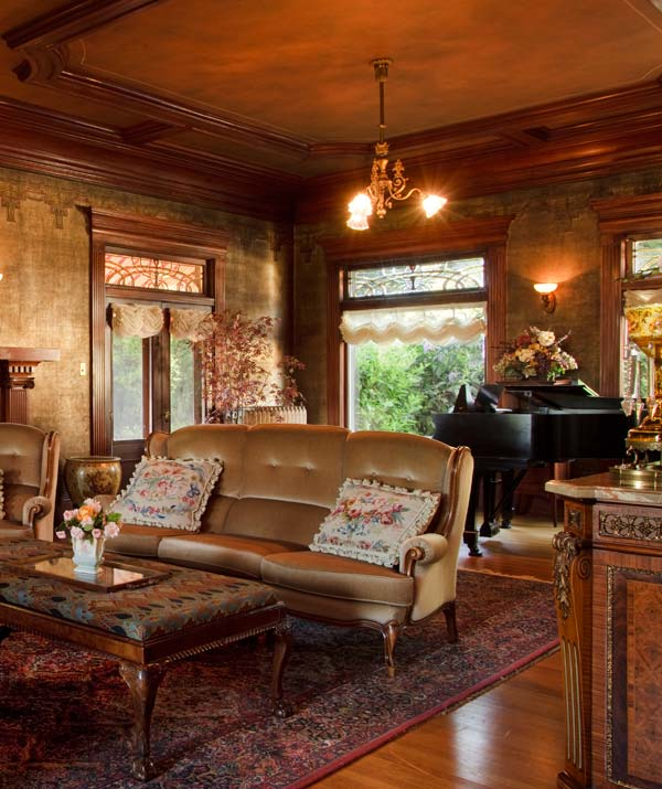 Antiques in the drawing room include Roy Orbison's grand piano.