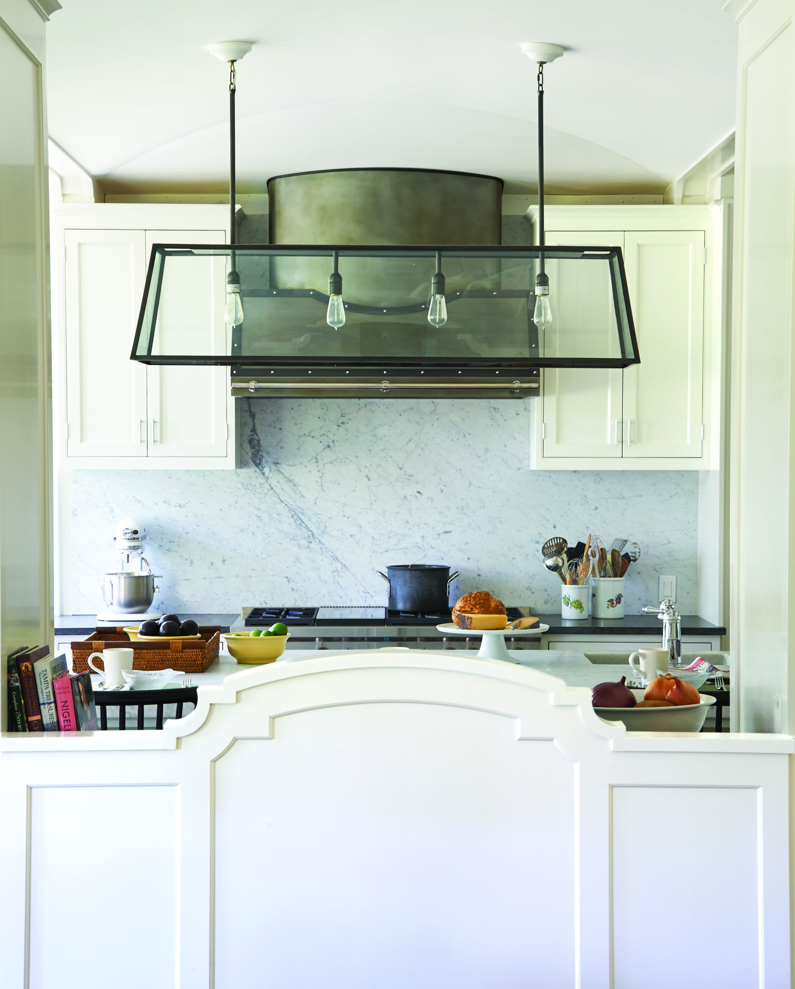 Mac Patterson of Austin Patterson Disston designs a transitional kitchen for a family in Connecticut.