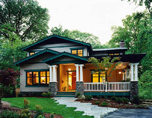 Architect Dale Stewart designed a cozy bungalow for his family in a Maryland suburb.