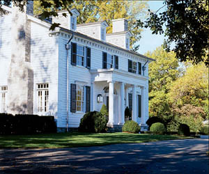 Architect Ken Tate fabricated an intricate fictional timeline for the house based on four historical styles: vernacular, Georgian, Federal, and Colonial Revival.