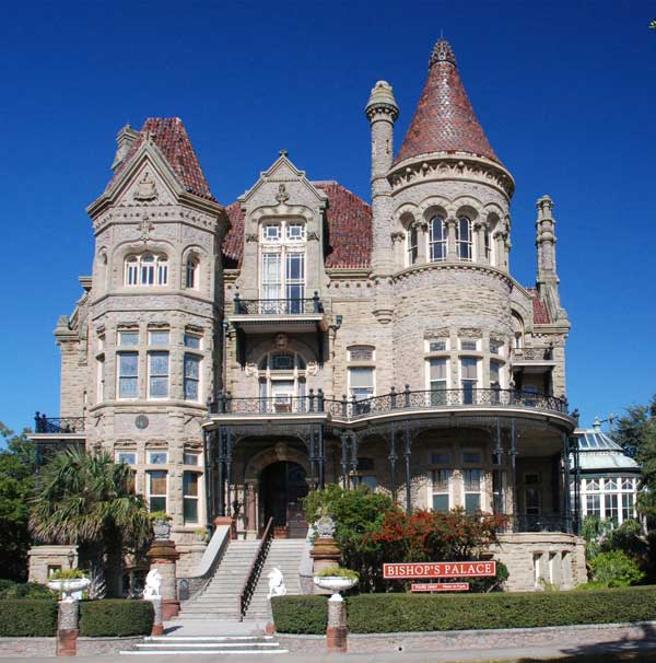 Architect Nicholas Clayton's 1892 masterpiece, the Bishop's Palace.