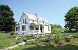 Architect Sandy Vizthum worked with Bob and Suzanne Griffiths to renovate this enchanting farmhouse in Craftsbury, Vermont.
