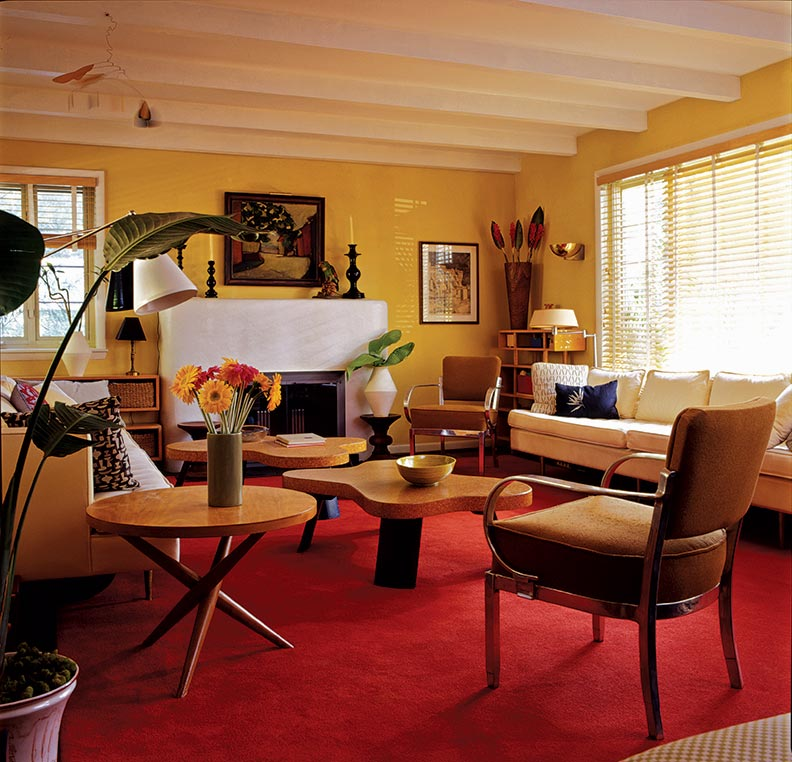 Rooms are furnished with choice pieces from the collection of the owners, who are dealers and designers of Modern furniture.