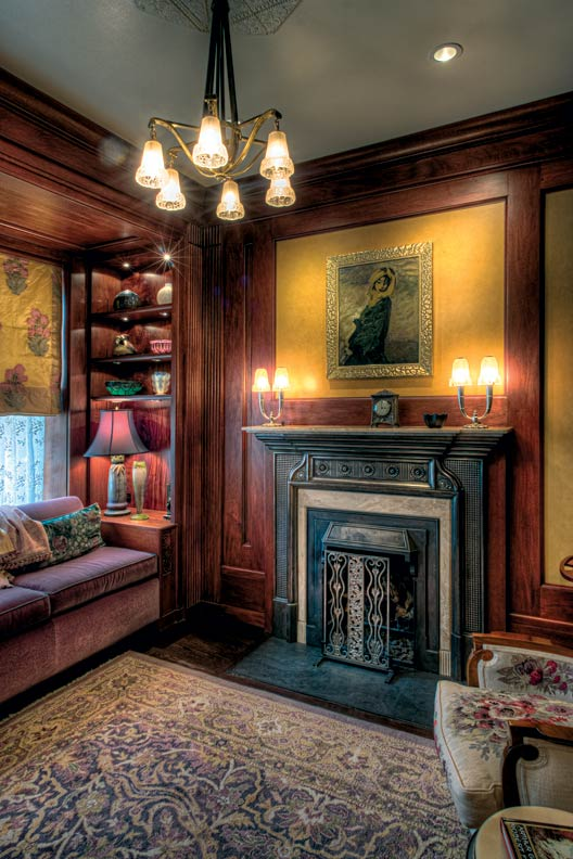 An art nouveau town house makeover old house restoration for Interior design challenge art deco