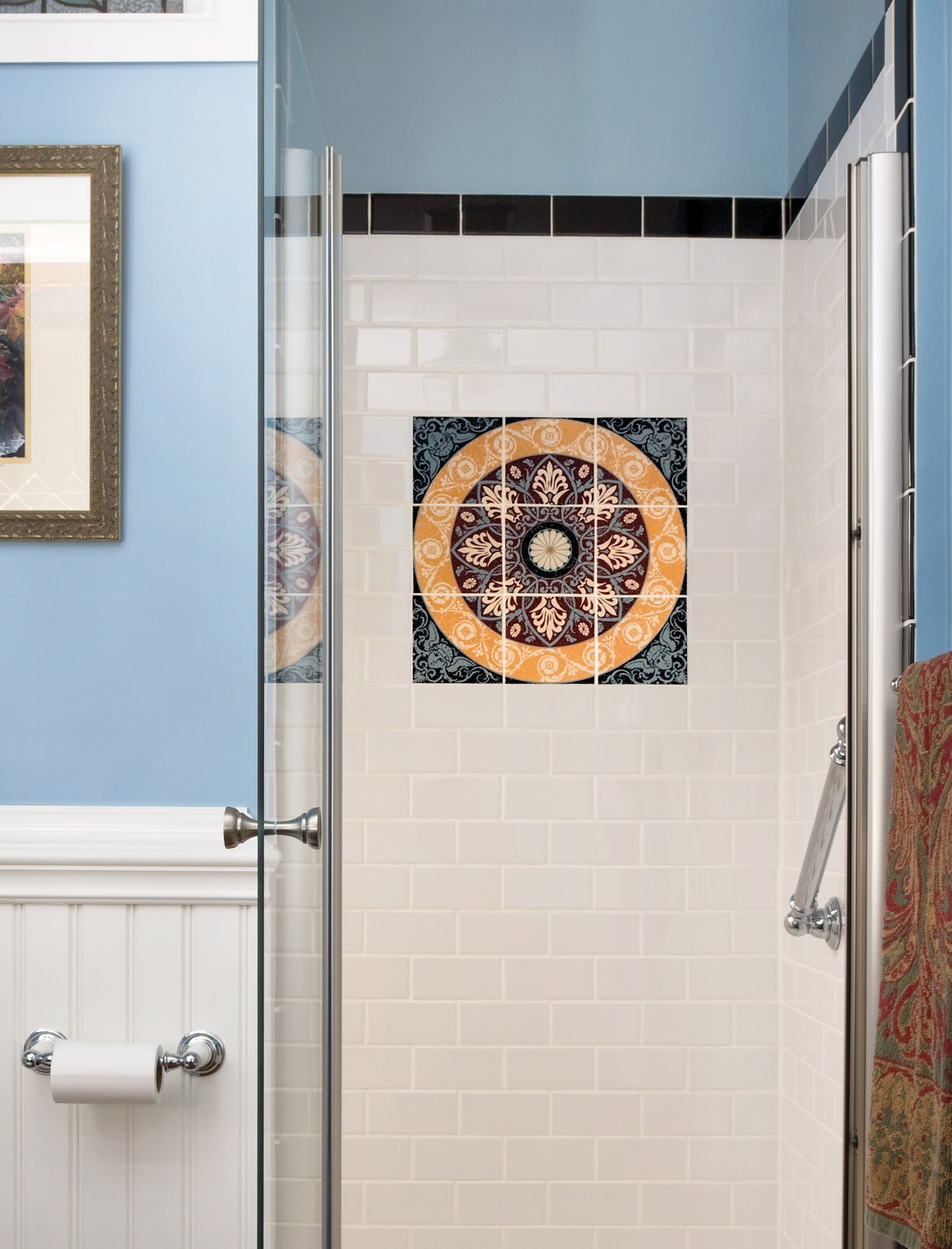 decorative art tile panel