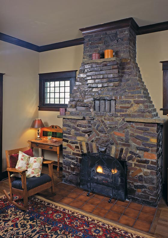 Fireplace ideas for bungalows old house restoration for Bungalow fireplace ideas
