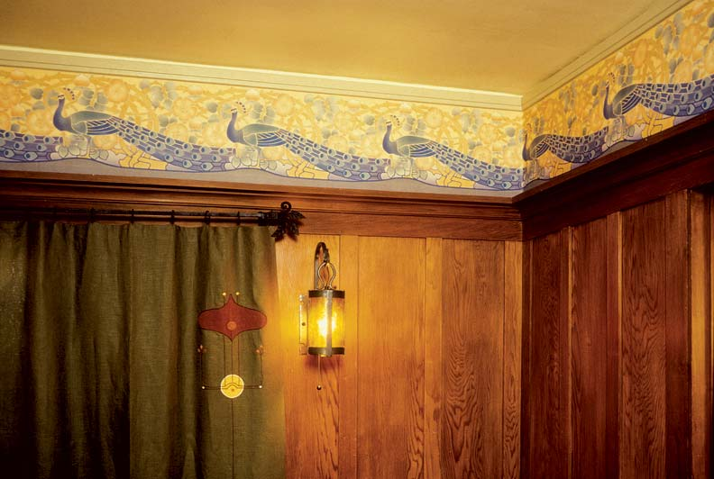 Favorite motifs of Arts & Crafts wallpaper designers, especially the British, were animals in highly stylized renderings.