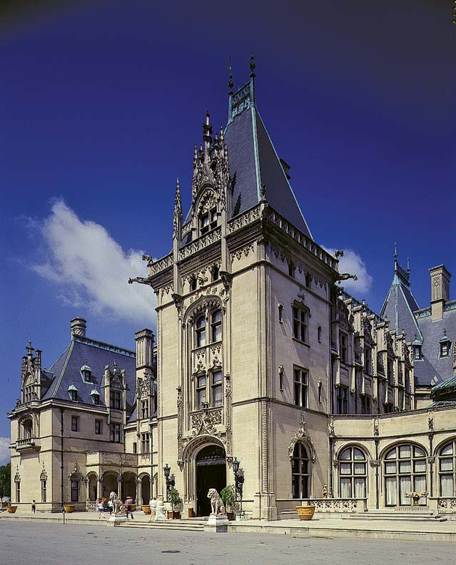 The grand Biltmore Estate has been a tourist attraction for a hundred years.
