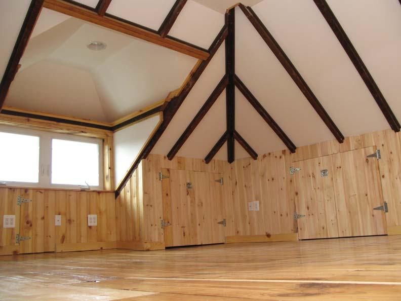 Finished attic storage