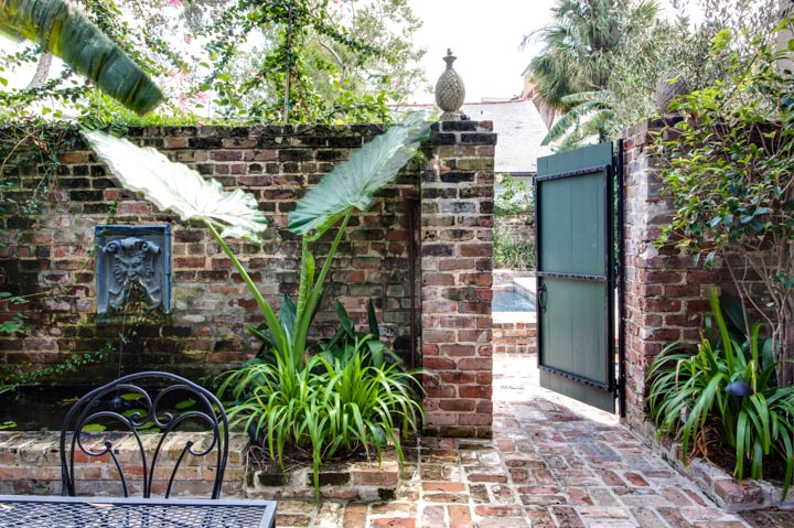The private, shady courtyard provides a quiet respite from the French Quarter.