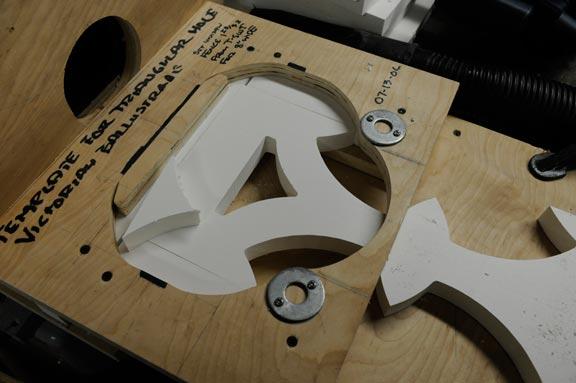 Cutting triangular window