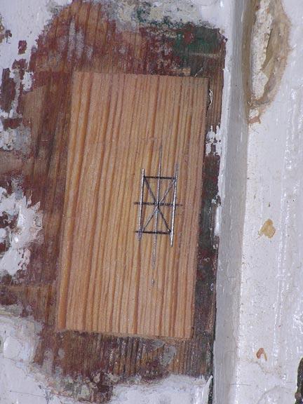 Replacing new block of wood
