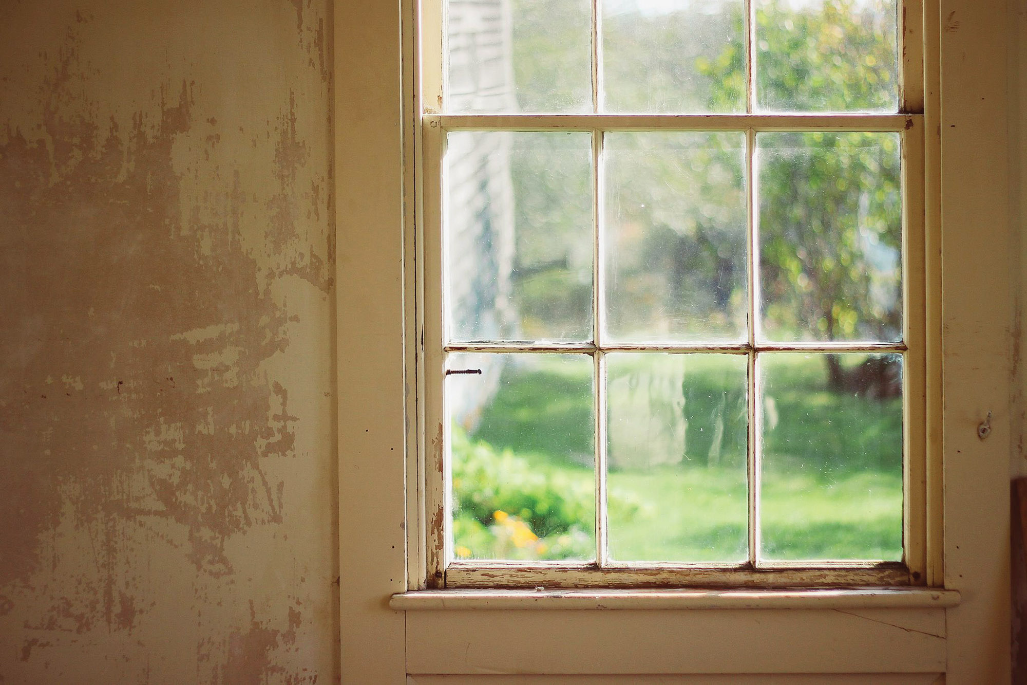 repaired window sash
