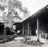 With California's temperate climate in mind, central courtyards were an important component of Greene & Greene houses, including the 1903 Bandini house. Bruce Smith archives photo.