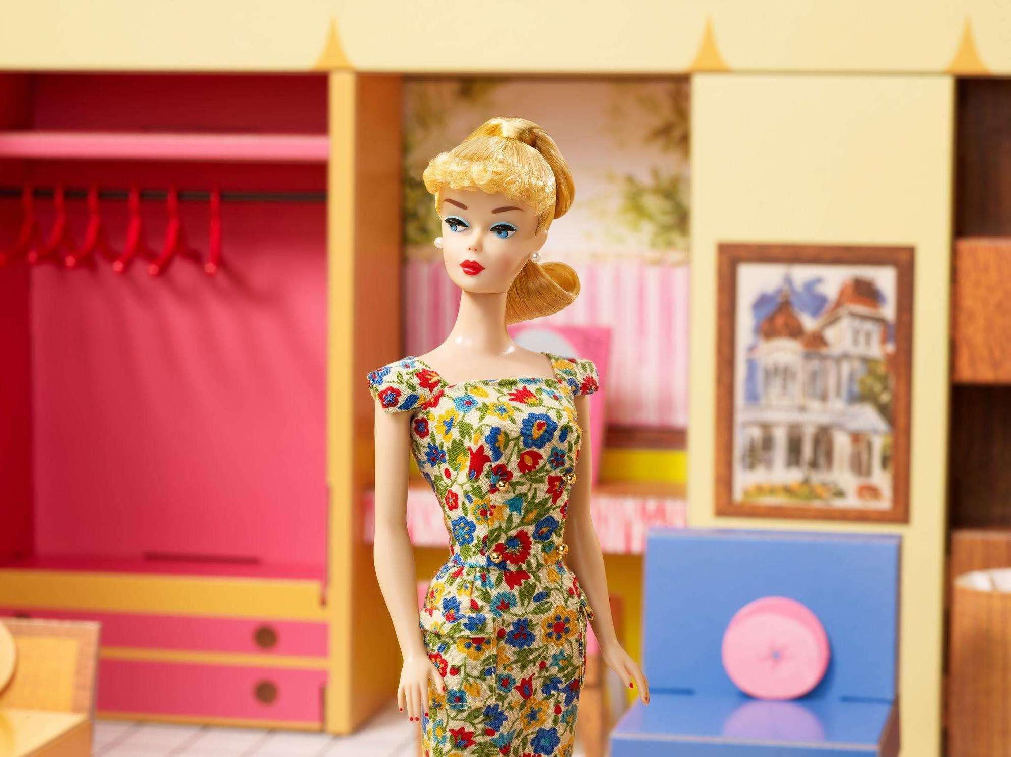 Barbie inside first house