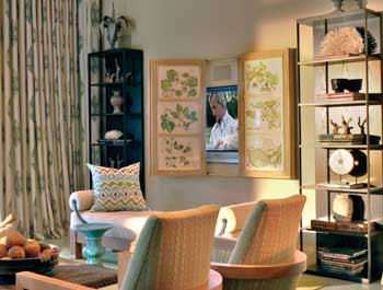 Designer Barry Dixon insists on beautiful, easy-to-operate art coverings for flat-screen TVs.