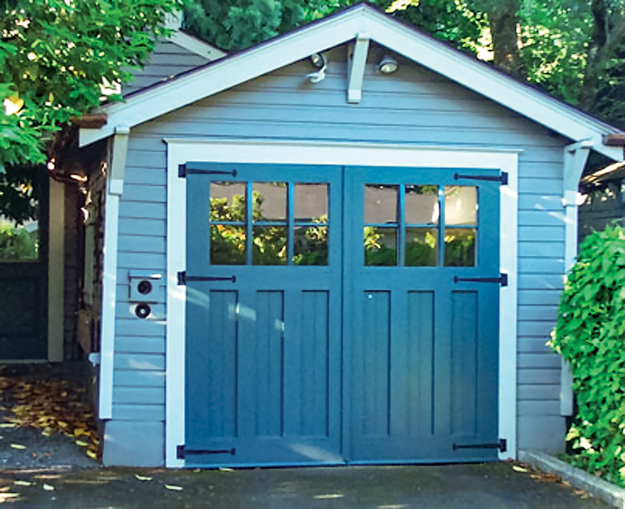 blue garage doors