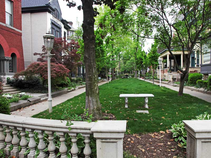 Belgravia Court is home to a magnificent Victorian neighborhood developed in the 1880s.
