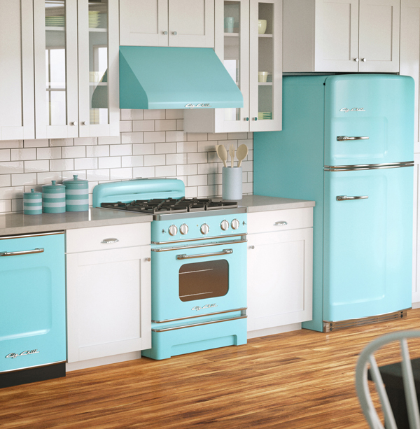 Big Chill, maker of retro refrigerators, now offers a full line of mid-century kitchen appliances.