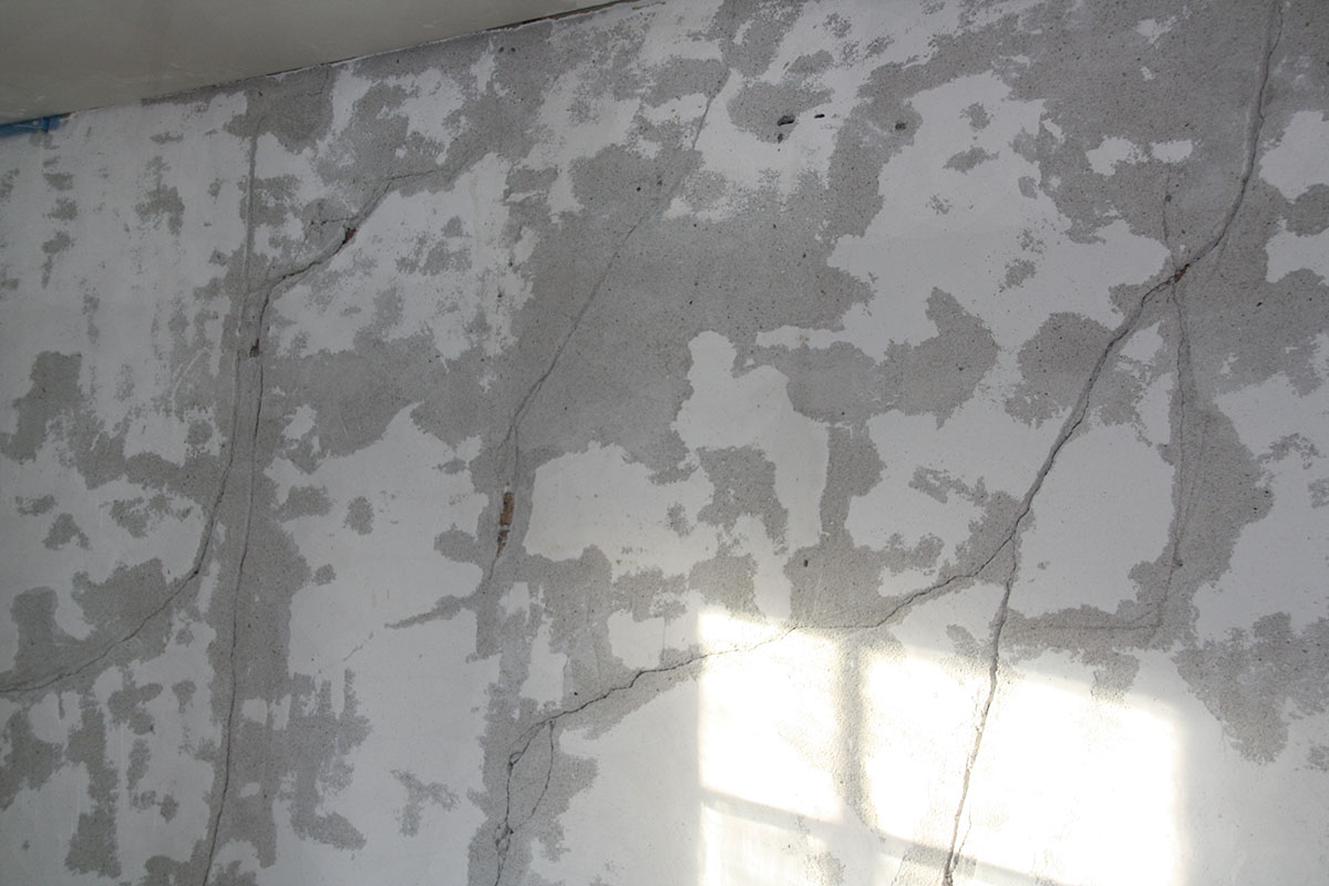 plaster with cracks