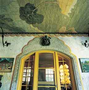 A ceiling at the Bonnet House, the 1921 Fort Lauderdale home of artists Frederic and Evelyn Bartlett