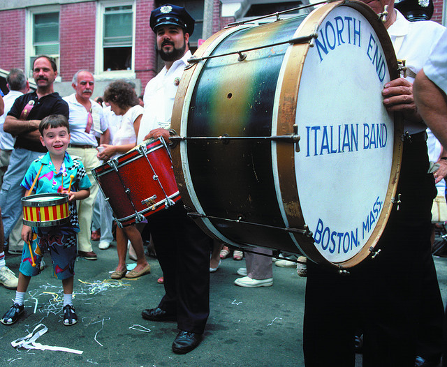 Revelers at the annual North End Italian Fisherman's Feast.