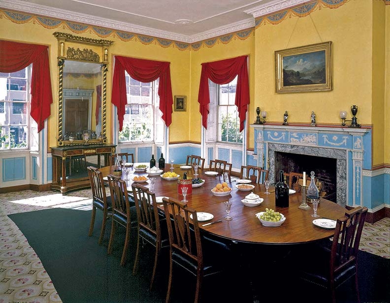 The Harrison Gray Otis House is an outstanding example of a high-end 18th-century dwelling, both inside and out.