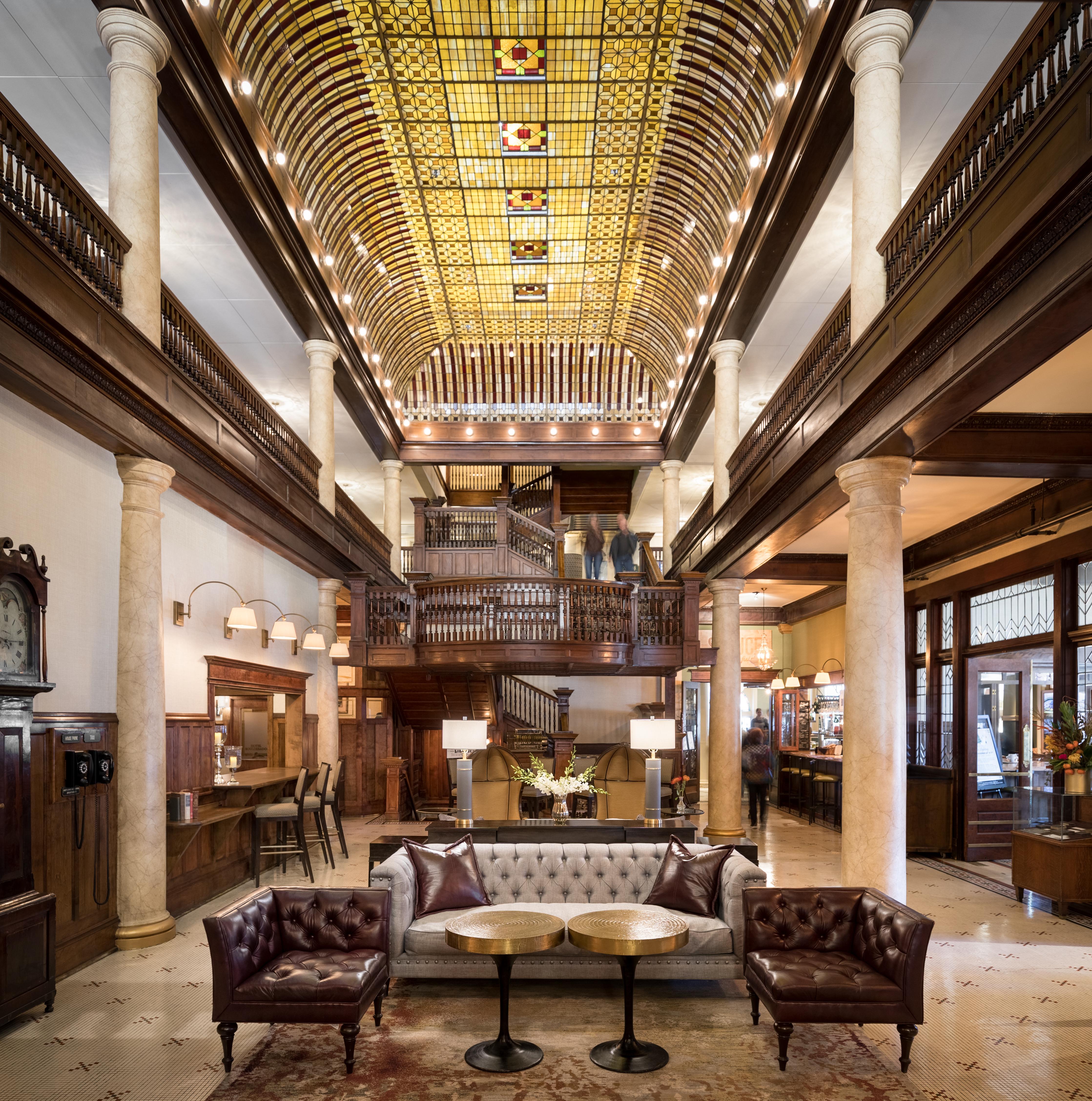 Hotel Boulderado, stained-glass atrium