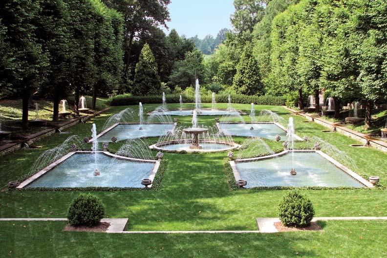 The Italian Water Garden at Longwood.