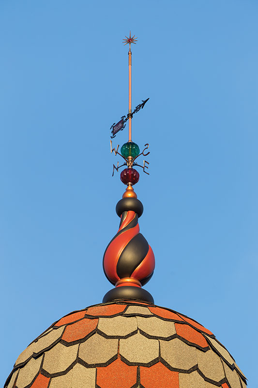 A lightning rod on the tower of the author's house. (Photo credit: William Wright)