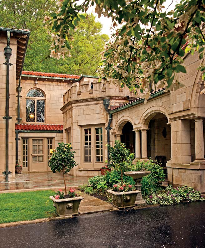 Built by a General Motors executive, the Mediterranean Revival house is an architectural tour de force.