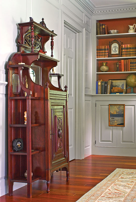 Built-in bookcases and custom millwork.