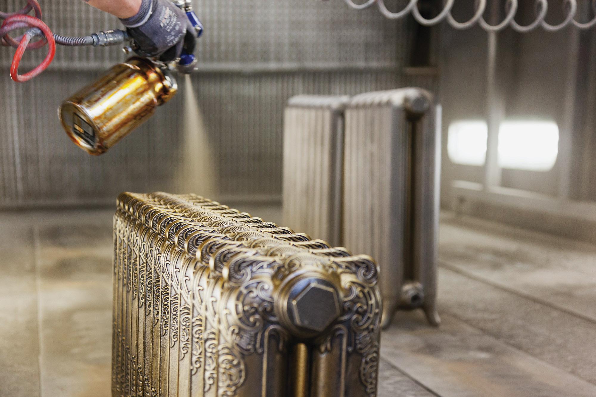 Castrads 'Rococo' radiator gets a hand-sprayed finish