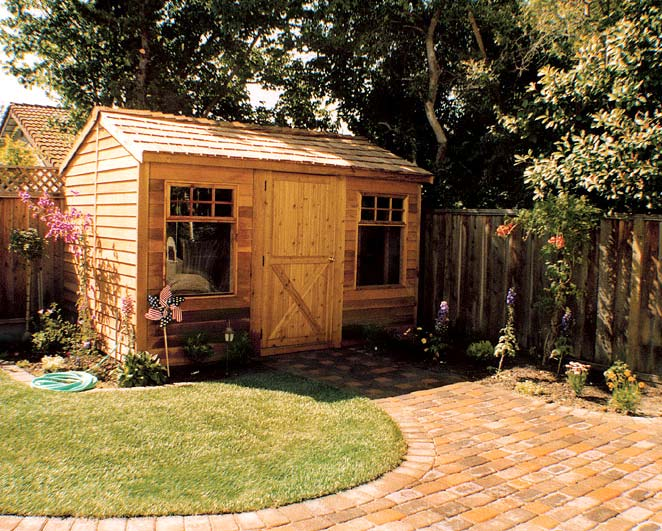 The Haida, a small cabin-style shed from Cedarshed Industries.