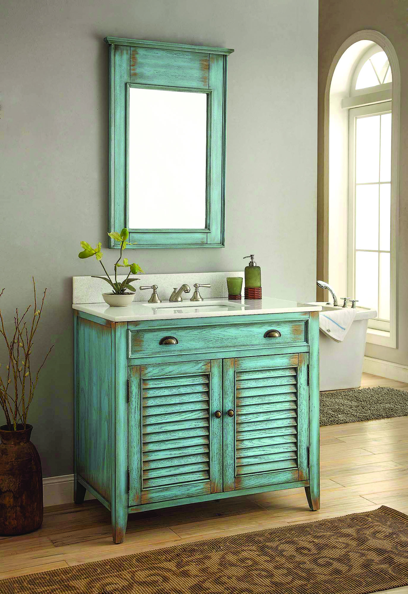 Plain And Simple Country Bath Old House Journal Magazine - Country-bathroom