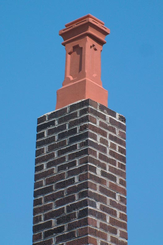 Pots have long been used to improve draft by extending chimney height. Dimensions should match the flue according to suppliers' recommendations.