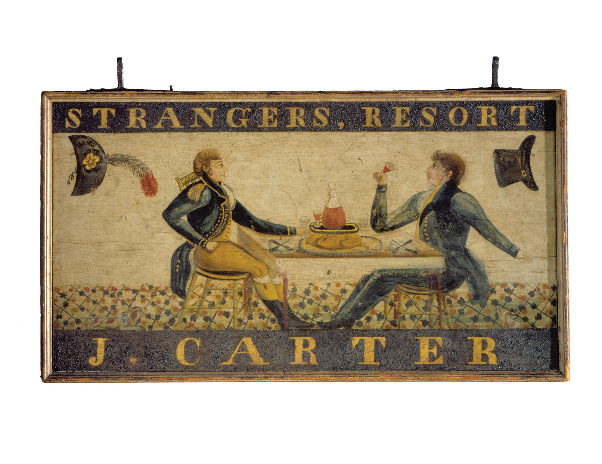Carter's Inn sign, Clinton, Conn., ca. 1823, attributed to Solomon Jones & Thomas K. Bush.