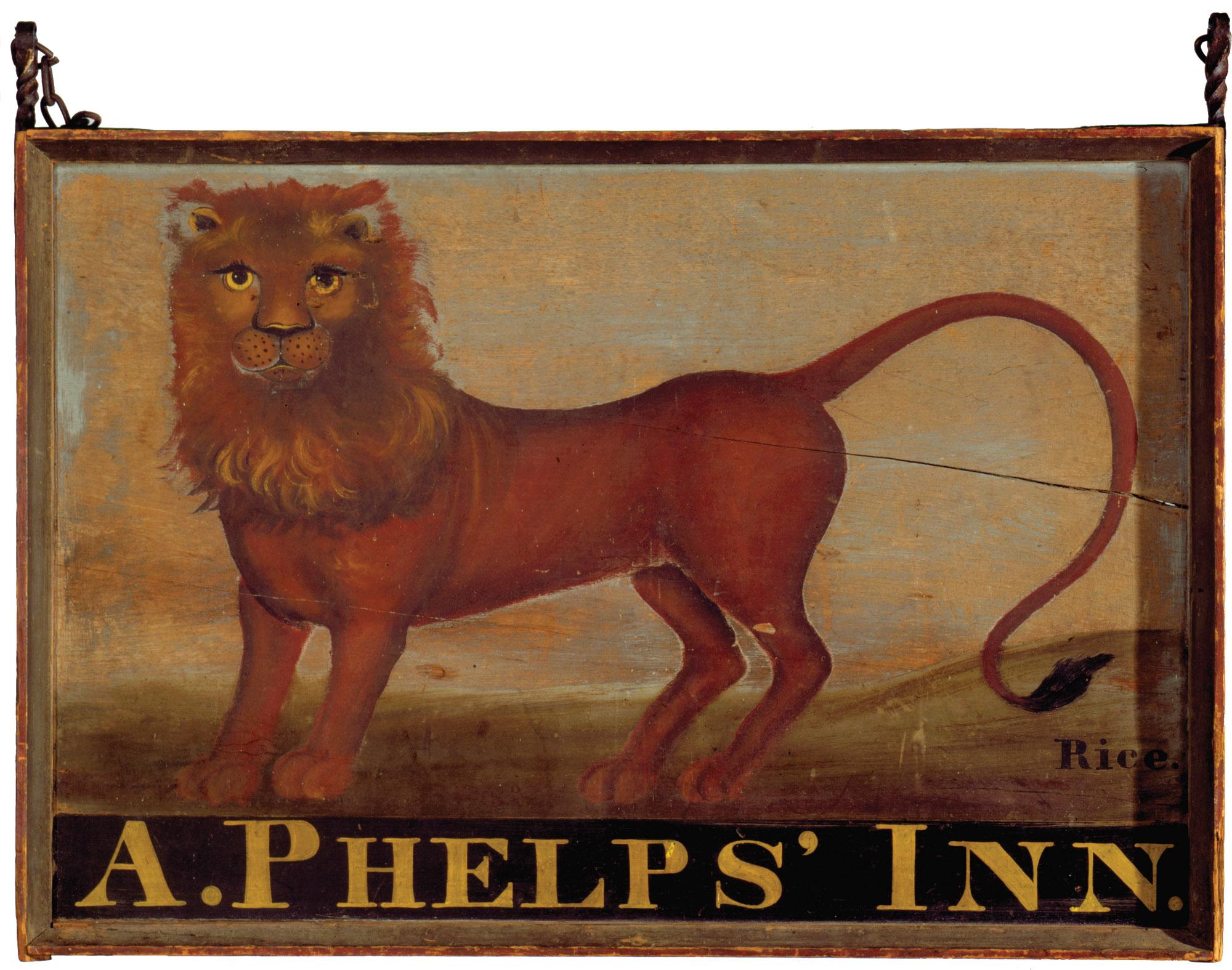The Arah Phelps Inn sign