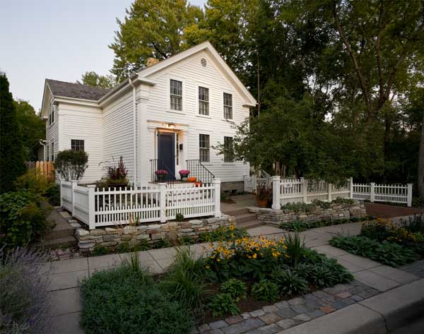 circa 1900 greek revival cottage on nicollet island in minnesota - Greek Revival Cottage