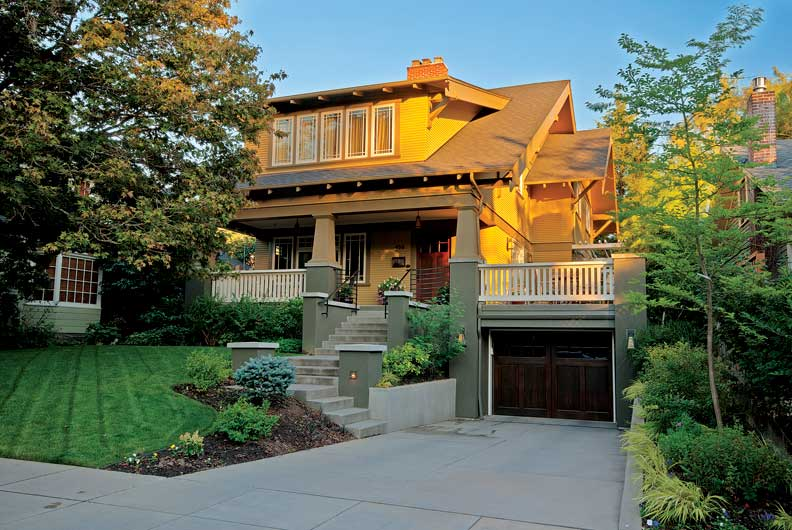 Structural upgrades to the bungalow included seismic reinforcement, plus a new garage that created a sunny deck on the side of the house.