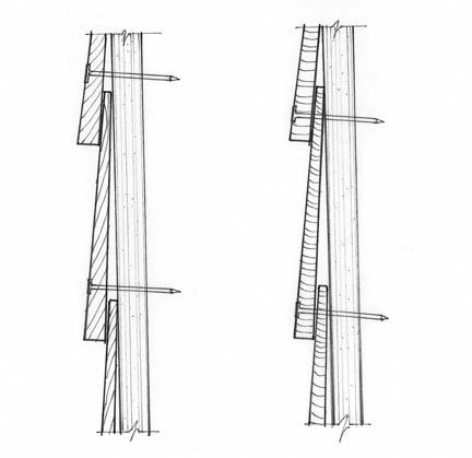 Clapboard & beveled siding illustration