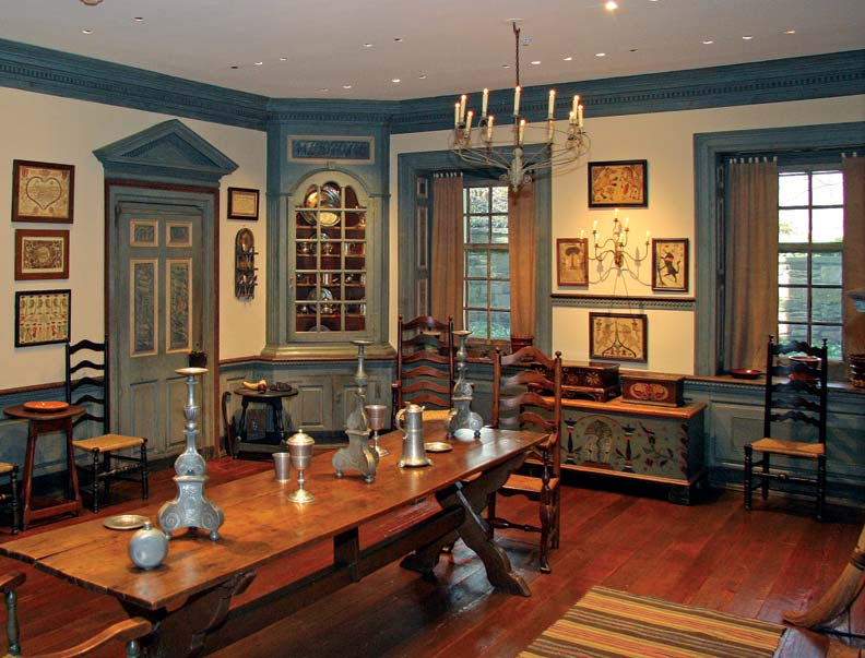 Colonial-style rooms typically have wainscoting or chair rails aligned with the window sills.