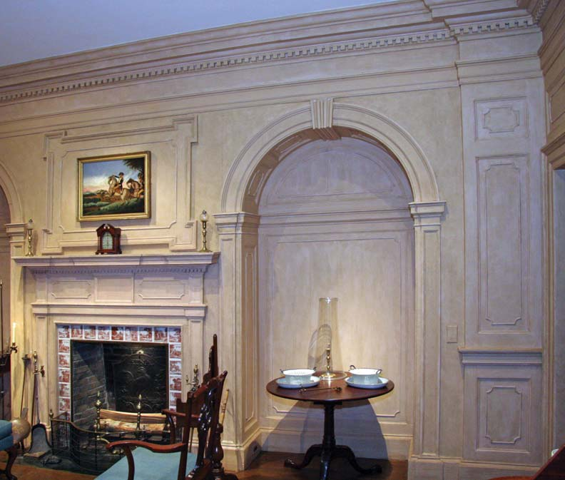 From its cornice to its base moldings, the Lancaster room at Winterthur is fully articulated in classical details.