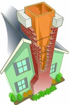 Clay chimney liner illustration