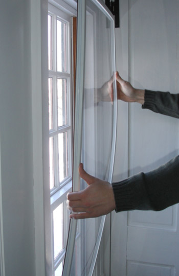 An interior storm window by Climate Seal