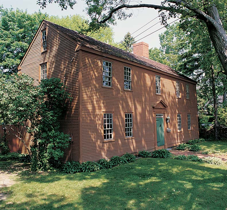 A 17th Century Exterior Is Finished In Earth Tone Pigments Typical Of Milk  Paint
