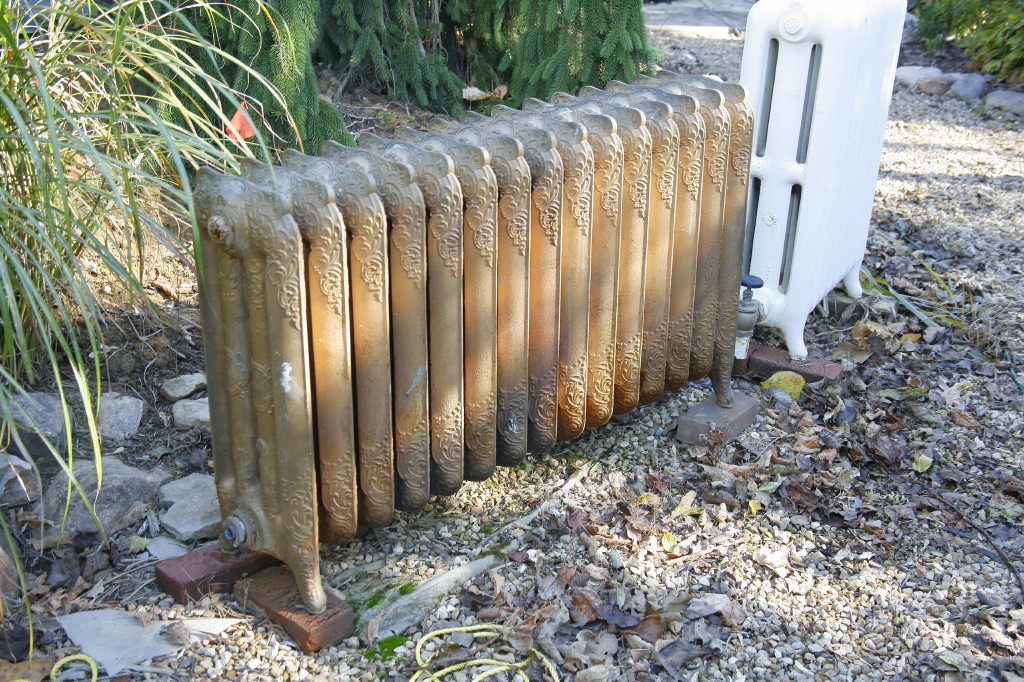 The LeVines devised a system that would allow them to keep the house's original radiators.