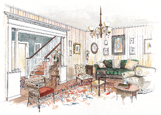 Colonial Revival Interior Design - Restoration & Design for the ...