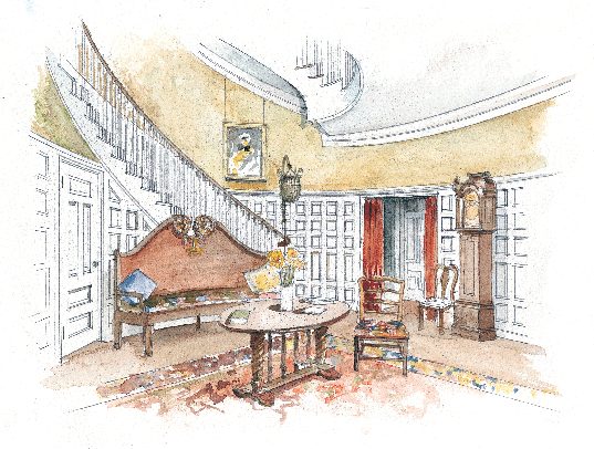 In a city house of the 1890s. (Illustration: Rob Leanna)