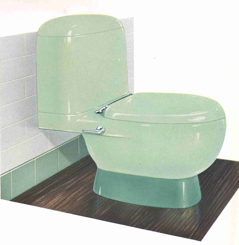 "Briggs' 1930s pastel toilets were marketed under the name ""Beautyware."""
